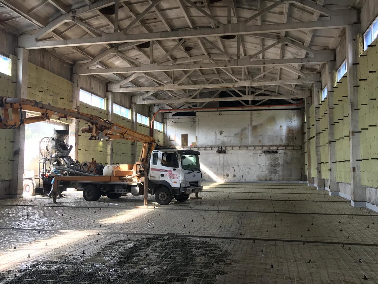 Реконструкция завода 3,700м2 в г. Коломна с применением пластиковой Арматуры